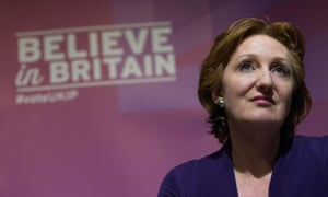 Suzanne Evans at a press conference on Ukip policy before the general election.