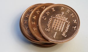 The UK's Royal Mint last year struck no new 1p coins, for the first time since 1972.