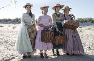 March on … Watson, Pugh, Ronan and Scanlen in Little Women.