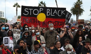 Black lives matter protesters in Perth