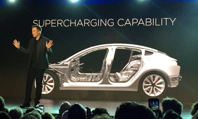 Tesla Model 3 pre-orders stack up as Elon Musk unveils lower-priced car