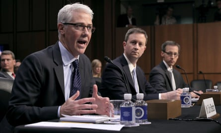 Representatives of Facebook, Twitter and Google testify before lawmakers in October.