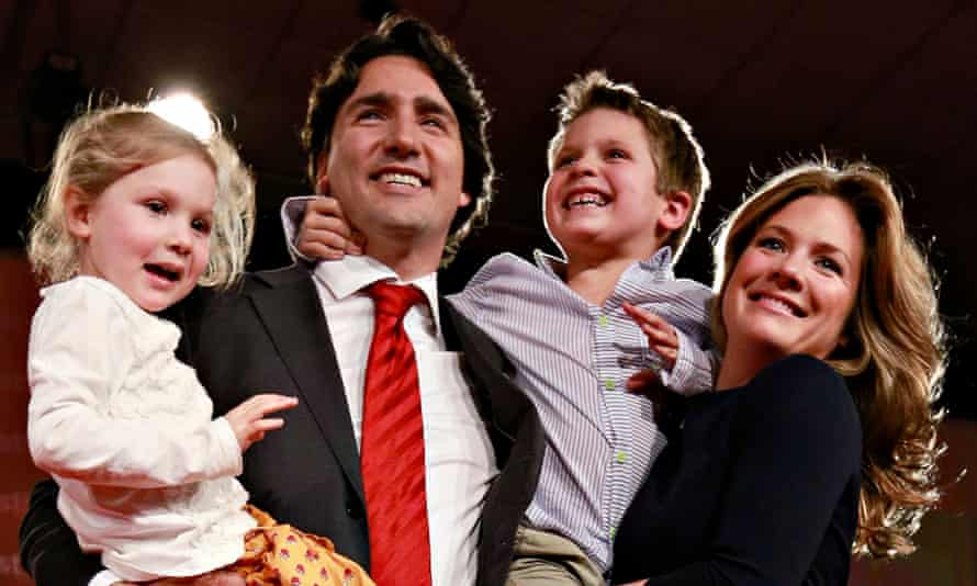 Justin Trudeau and his family in 2013.