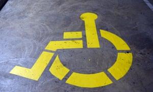 disability carpark sign