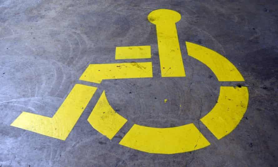 A disability car park sign
