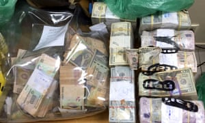 Police seized an estimated $6m that the Brazilian gangsters stole.