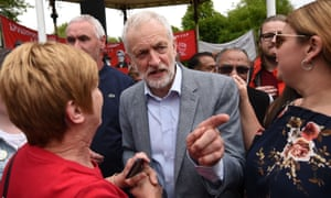 Jeremy Corbyn at an EU election campaign rally in Bootle, May 2019