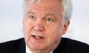 David Davis, the Brexit secretary, hit out at the fine imposed on Ian Hannom after taking a job at his firm.