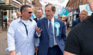 Nigel Farage on a walkabout in Dartford