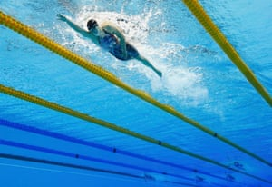 Katie Ledecky out on her own as she takes the gold.