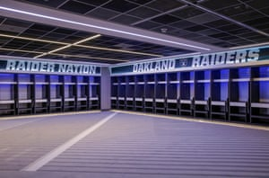 Part of the home changing room which was designed to specific NFL demands. The NFL changing rooms are on the opposite side to the Spurs changing room.