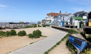 Seafront houses at Whitstable, Kent