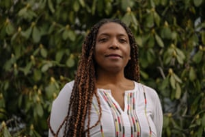 Tricia Diamond poses for a portrait on Tuesday, March 17, 2020, in Seattle, Wash. Diamond is offering help with keeping black, brown and indigenous students on track while Seattle schools are closed due to coronavirus concerns.