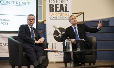 Michael Gove with Zac Goldsmith at the Real Farming Conference.