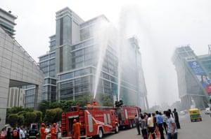 Fire drill in Gurgaon