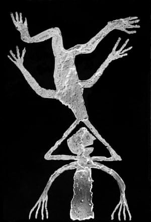 Triangulation, 2010, from Roger Ballen's The Theatre of Apparitions.