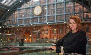 Tracey Emin at St Pancras International station, London.