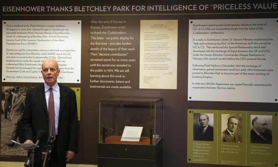 Former MI6 chief John Scarlett in Bletchley Park.