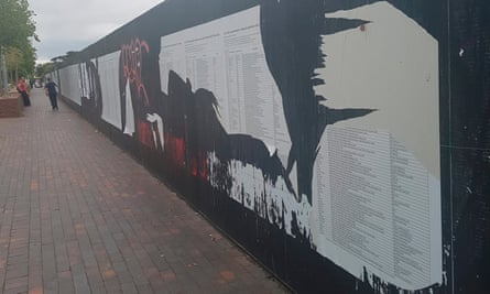 The art project on a 280m hoarding on Great George Street, Liverpool has been repeatedly damaged, removed and targeted since it was installed.