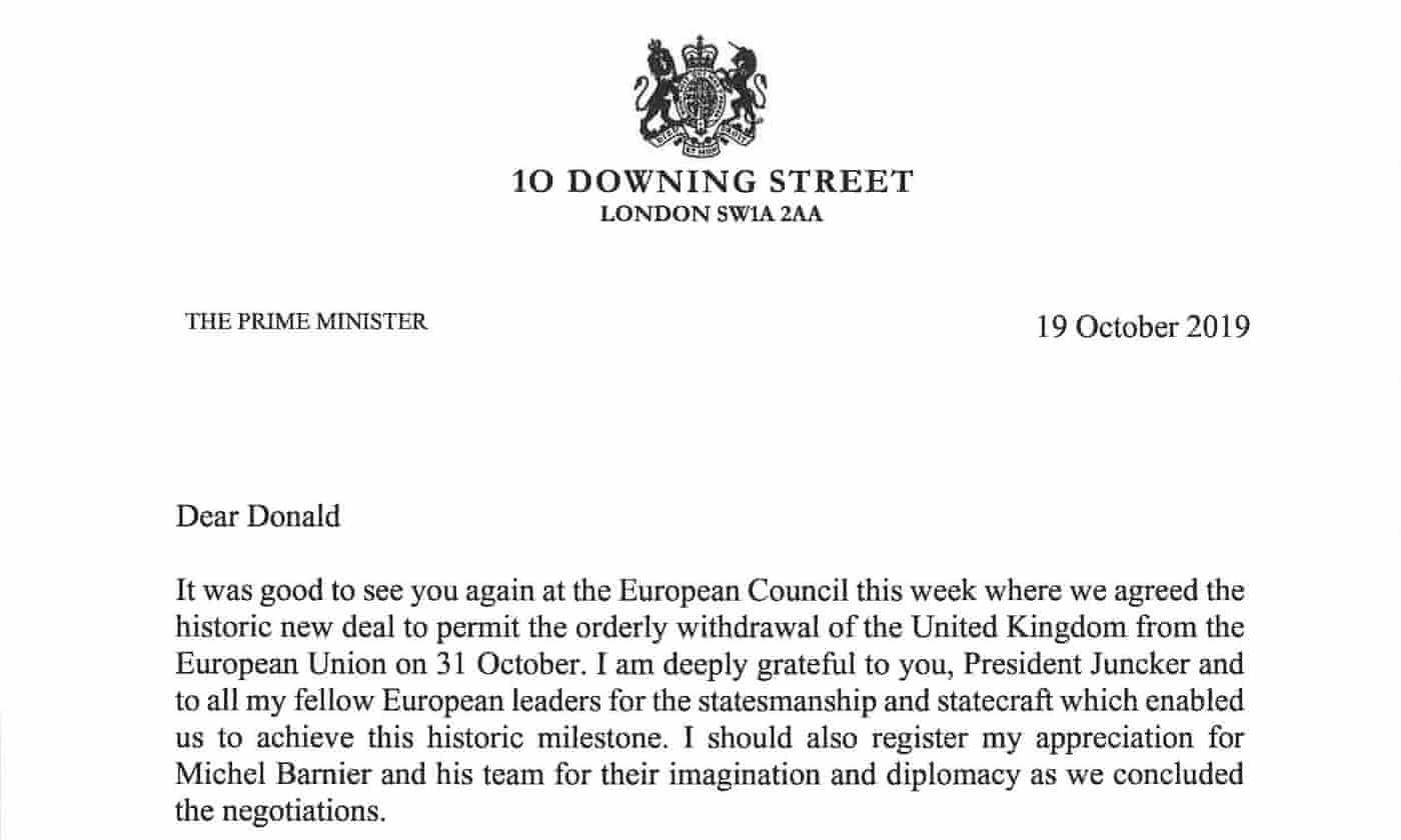 UK's three Brexit letters to EU: 'We must bring this to a conclusion'