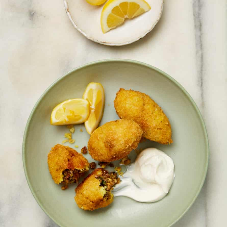 Yotam Ottolenghi Rice and mung bean kubbeh.