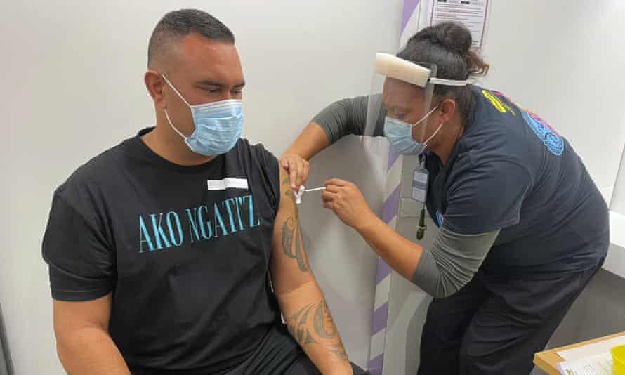 Just 42,000 people in New Zealand have had two doses of the coronavirus vaccine.