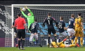 David Martin drops the ball into his own net to gift Brighton a late equaliser and take the game into extra-time.