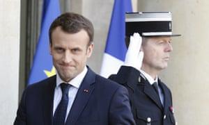 Emmanuel Macron at the Élysée Palace in Paris
