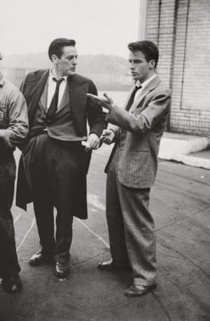 """Montgomery Clift with fellow actor Kevin McCarthy from """"Montgomery Clift: Glamour Boy in Baggy Pants,"""" 1949"""