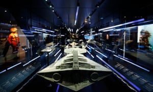 Ready for takeoff ... starships from the Star Wars film series on display at the MAK museum in Vienna.