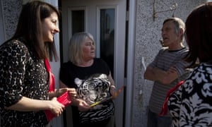 Liz Kendall, left, campaigning during the election.<br>
