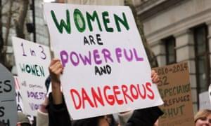 Feminist protester