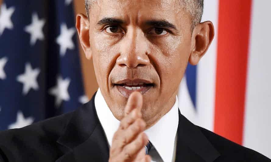Obama speaks during a press conference with Cameron on Friday.