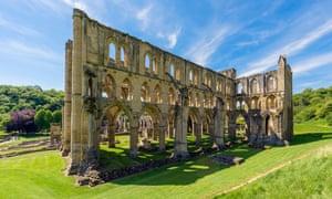 Ruins of Rievaulx Abbey, near Helmsley, North Yorkshire, England, UK