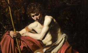 Caravaggio's Saint John the Baptist in the Wilderness.
