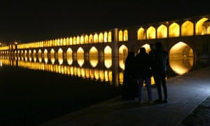 Si-o-Se-Pol Bridge (33 Arches bridge) over the Zayanderud river in Isfahan.