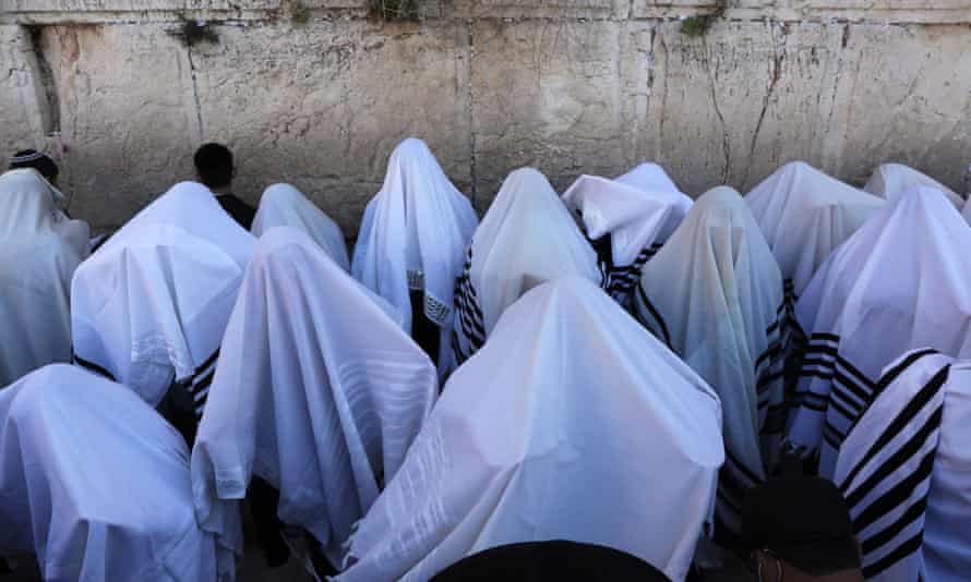 Ultra-Orthodox Jews pray in front of the Western Wall in Jerusalem last month.