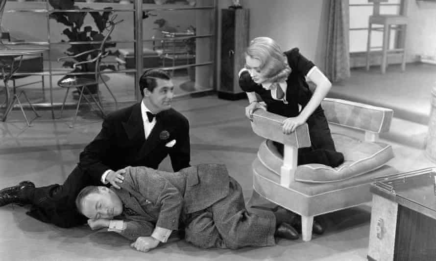 Cary Grant, Roland Young and Constance Bennett in Topper, 1937.