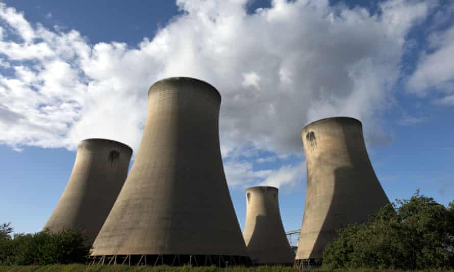 The cooling towers of the Drax power plant near Selby, northern England