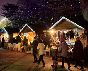 Christmas cabins: Le Touquet Paris-Plage Christmas Market.