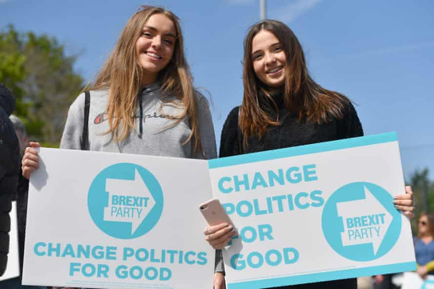 Brexit party supporters in Chester.