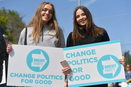 Brexit party supporters in Chester earlier this month.