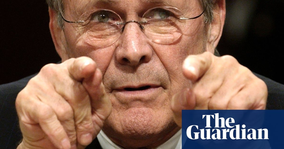 History unlikely to forgive Donald Rumsfeld's Iraq warmongering