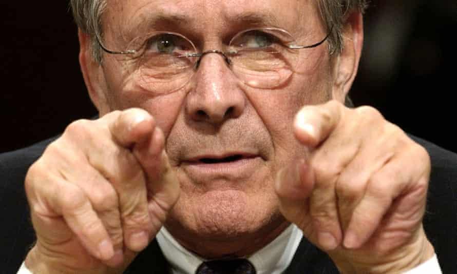 Defense Secretary Donald Rumsfeld testifies before the federal panel reviewing the Sept. 11 attacks in 2004