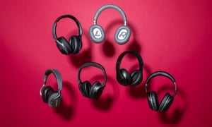 L-r: headphones from Bowers & Wilkins, Sony, Bose, Plantronics, Beats, Sennheiser.