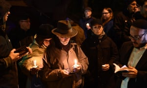 A vigil outside the Tree of Life synagogue in Pittsburgh after the shooting in October.