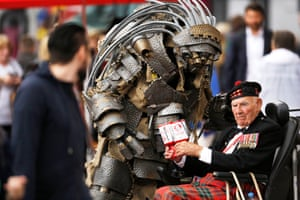 Mog the Robot investigates Tom Gilzean, a veteran collecting for the Royal Hospital for Sick Children