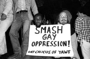 Gay Pride protest, West Village, 1977