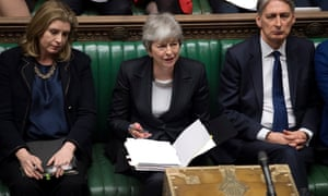 Theresa May during prime minister's questions on 20 March