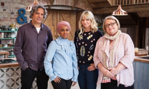 Giorgio with Nadiya Hussain, Zoe Ball and Rosemary Schrager on The Big Family Cooking Showdown.
